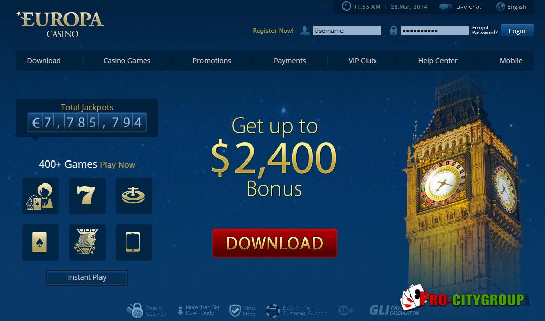 Скачать казино европа официальный сайт интернет игровые автоматы при регистр